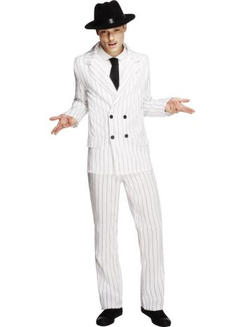Fever Gangster Costume, White