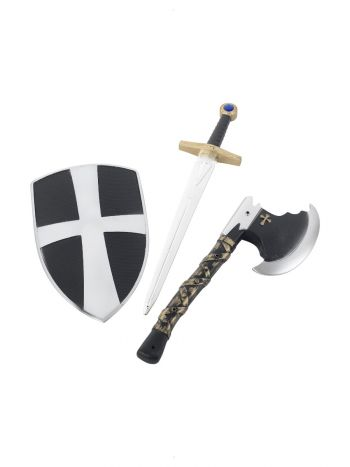 3 Piece Crusader Set, White