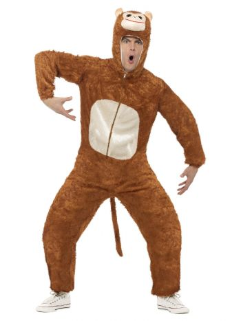 Monkey Costume, Adult, Brown