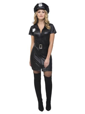 Fever Corrupt Cop Costume, Black