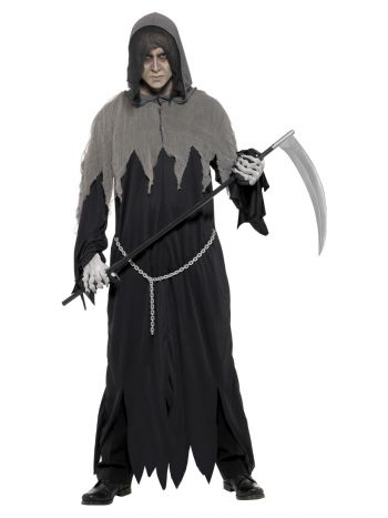 Grim Reaper Robe Costume, Black