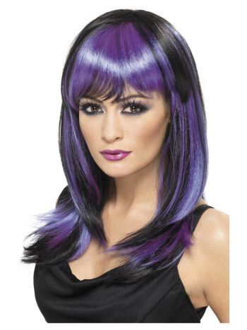 Glamour Witch Wig, Black