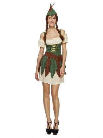 Fever Outlaw Warrior Costume, Green