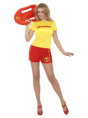 Baywatch Beach Costume, Yellow