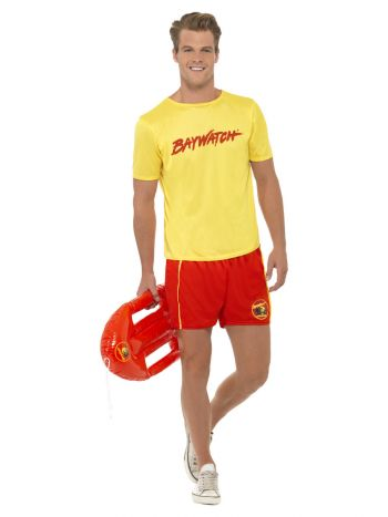 Baywatch Men's Beach Costume, Yellow