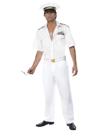 Top Gun Captain Costume, White