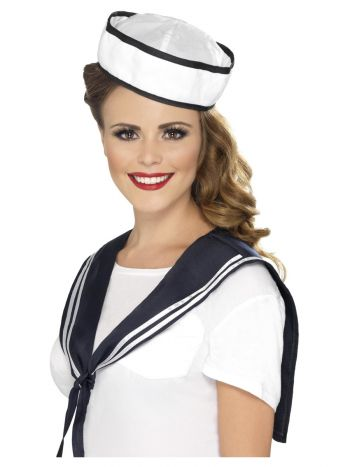 Sailor Scarf & Hat, White