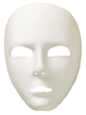 Viso Full Face Eyemask, White
