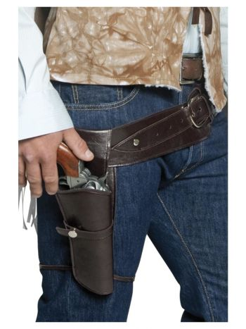 Authentic Western Wandering Gunman Belt & Holster,