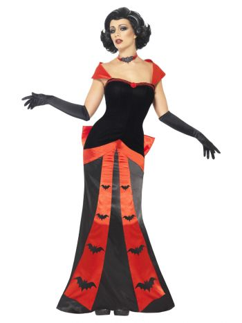 Glam Vampiress Costume, Black