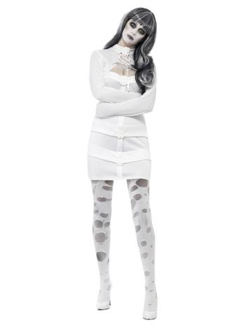 Sexy Straitjacket Costume, White