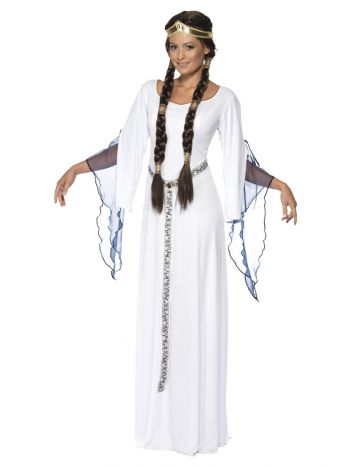 Medieval Maid Costume, White