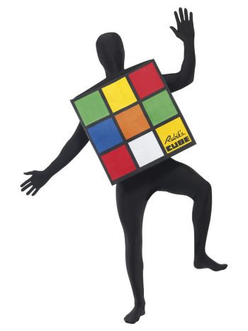 Rubik's Cube Unisex Costume, Multi-Coloured