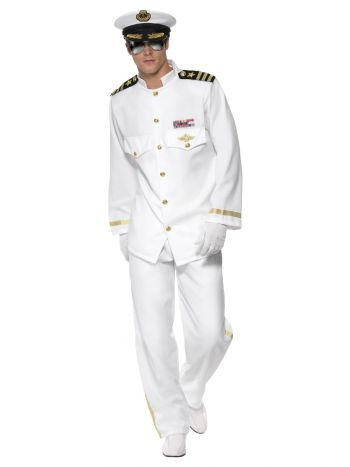 Deluxe Captain Costume, White