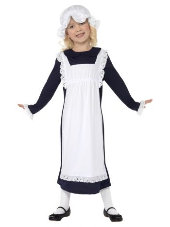 Victorian Poor Girl Costume, White