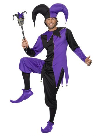 Medieval Jester Costume, Purple