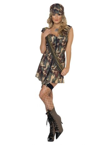 Army Girl Costume, Camouflage