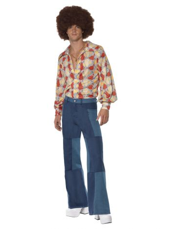 70s Deluxe Flared Trousers, Mens