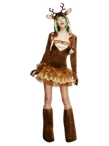 Fever Reindeer Costume, Tutu Dress, Brown