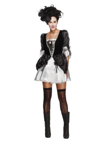 Fever Baroque Fantasy Costume, Black