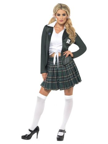 Preppy Schoolgirl Costume, Grey