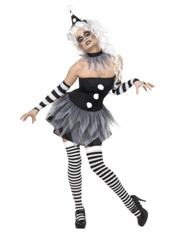 Sinister Pierrot Costume, Black