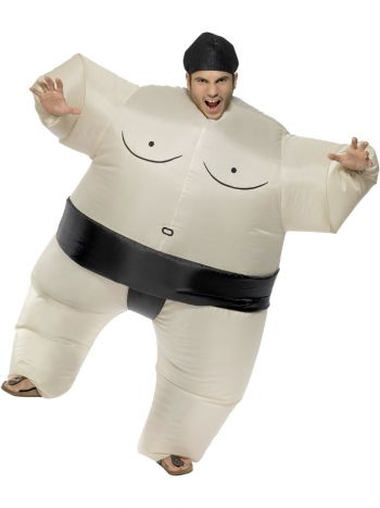 Sumo Wrestler Costume, White