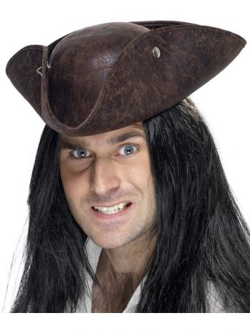 Pirate Tricorn Hat, Brown