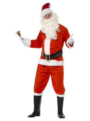 Deluxe Santa Costume, Red