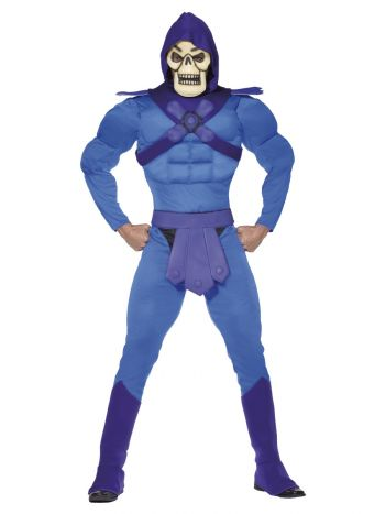 Skeletor Muscle Costume, Blue