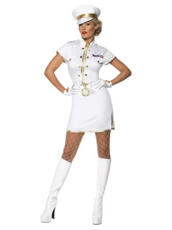 High Seas Captain Costume, White
