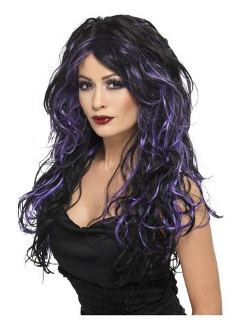 Gothic Bride Wig, Purple