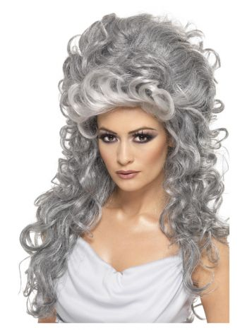 Medeia Witch Beehive Wig, Grey