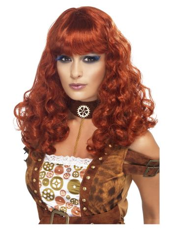 Steam Punk Female Wig, Auburn