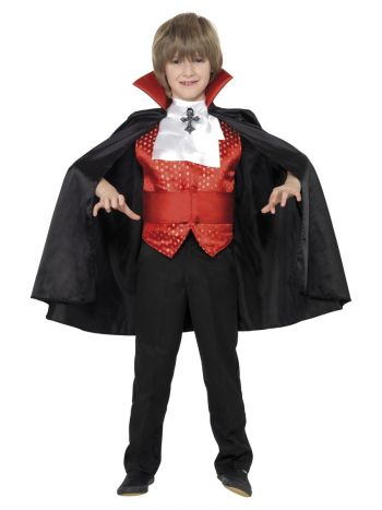 Dracula Boy Costume, Black