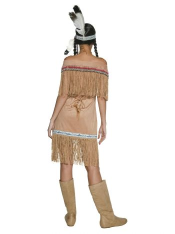 Native American Inspired Lady Costume, Beige