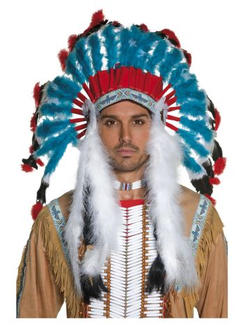 Native American Inspired Headdress, Blue