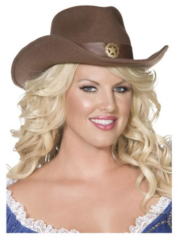 Fever Wild West Cowboy Hat, Brown