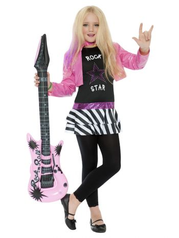 Rockstar Glam Costume, Black