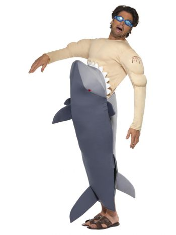 Man-Eating Shark Costume, Grey