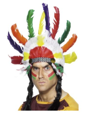 Native American Inspired Headdress, Multi-Coloured