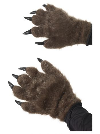 Hairy Monster/Animal Hands, Brown
