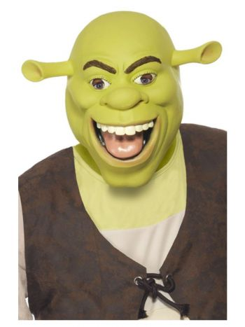 Shrek Latex Mask, Green