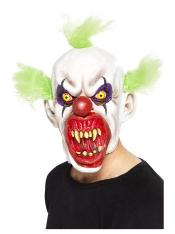 Sinister Clown Mask, White