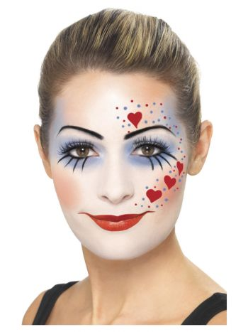 Smiffys Make-Up FX, Clown Kit, Multi-Coloured