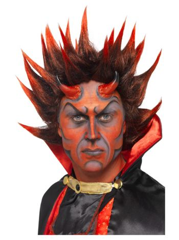 Devil Punky Wig, Red & Black