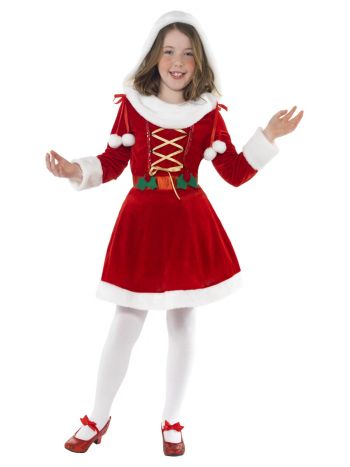 Little Miss Santa Costume, Red