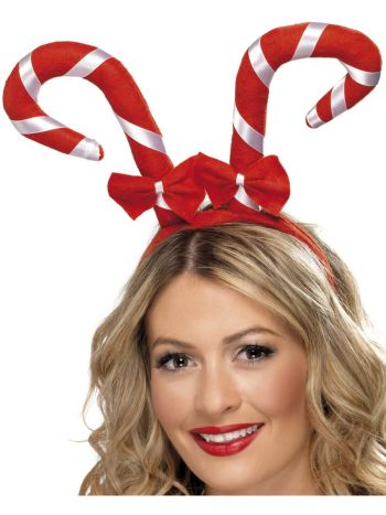 Candy Cane Headband, Red & White