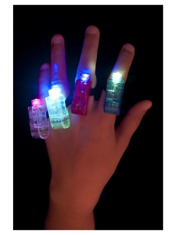 Multi Colour, Multi Flashing Finger Lights, Assort