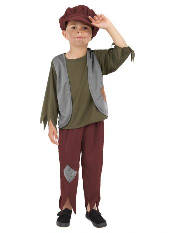 Victorian Poor Boy Costume, Green